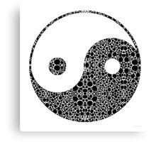 Perfect Balance 1 - Yin and Yang Stone Rock'd Art by Sharon Cummings Canvas Print