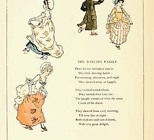 Marigold Garden Pictures and Rhymes Kate Grenaway 1900 0012 The Dancing Family by wetdryvac