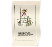 Mother Goose or the Old Nursery Rhymes by Kate Greenaway 1881 0028 Little Bo Peep Poster
