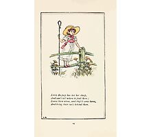 Mother Goose or the Old Nursery Rhymes by Kate Greenaway 1881 0028 Little Bo Peep Photographic Print