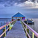 Sunset on the Pier at Fishbones by Monnie Ryan