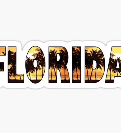 Florida tropical palm trees word art Sticker