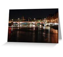 Lyon by night #6 Greeting Card