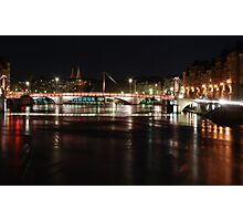Lyon by night #6 Photographic Print