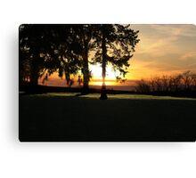 Sunset over the Cascades Canvas Print