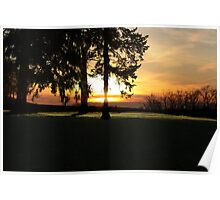 Sunset over the Cascades Poster