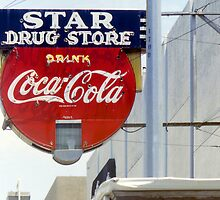 Coca-Cola Neon Sign, Galveston, Texas by Stephen D. Miller