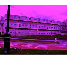 Bauhaus Purple Photographic Print