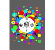 Festive Party Bubble Photographic Print