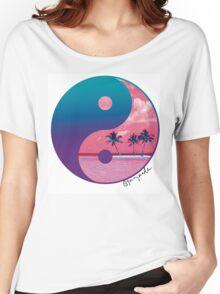 Tropical Yin Yang Women's Relaxed Fit T-Shirt