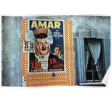 Vintage Paris Wall Poster Clown 1956 Poster