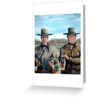 """""""Spaghetti Western"""" - Acrylic Greeting Card"""
