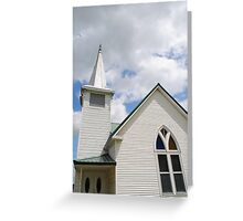 Route 66 Methodist Church Steeple Greeting Card