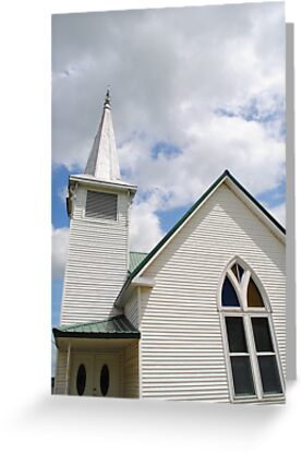 Route 66 Methodist Church Steeple by R.E Smith