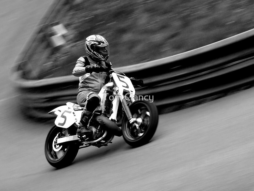 Prescott Speed Hill Climb - Honda CR 508cc (Black & White) by Tom Clancy
