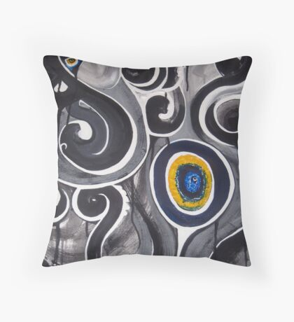 touched wood Throw Pillow