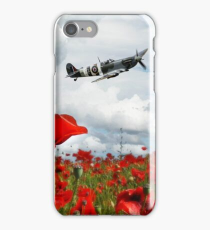 Spitfire Over The Poppy iPhone Case/Skin