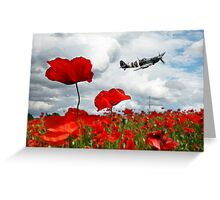 Spitfire Over The Poppy Greeting Card