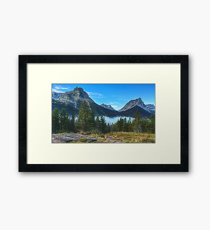 Glacier Mountains Framed Print
