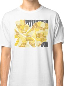 Pittsburgh Neighborhood Map Classic T-Shirt