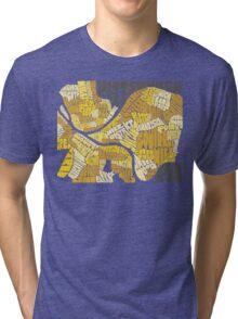 Pittsburgh Neighborhood Map Tri-blend T-Shirt