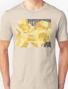 Pittsburgh Neighborhood Map Unisex T-Shirt