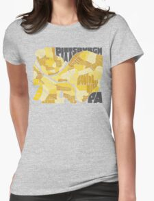 Pittsburgh Neighborhood Map Womens Fitted T-Shirt