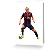 Iniesta Greeting Card