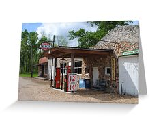 Route 66 Gas Station and Garage Greeting Card