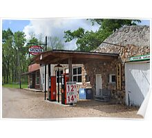Route 66 Gas Station and Garage Poster