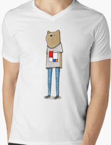 Hipster Wombat Mens V-Neck T-Shirt