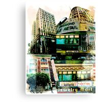 Los Angeles Downtown Jewelry District Buildings Canvas Print