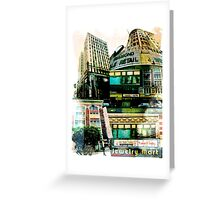 Los Angeles Downtown Jewelry District Buildings Greeting Card