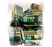 Los Angeles Downtown Jewelry District Buildings Poster