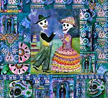 Catrin and Catrina Wedding Day - Day of the Dead by dayofthedeadart