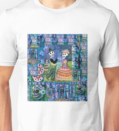 Catrin and Catrina Wedding Day - Day of the Dead Unisex T-Shirt