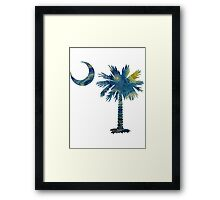 Starry Night Palmetto Moon Framed Print