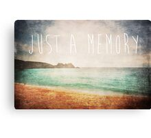 Just A Memory Canvas Print