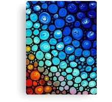 Abstract 2 - Colorful Mosaic Art blue Aqua Red Canvas Print