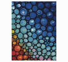 Abstract 2 - Colorful Mosaic Art blue Aqua Red Kids Clothes