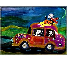 Day of the Dead hippies on a road trip Photographic Print