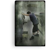 Stress at the Laundermat Canvas Print