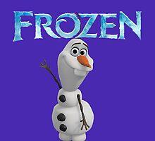 fozen olaf say hello by karinartshop