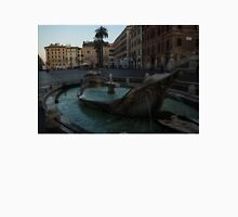 Rome's Fabulous Fountains - Fontana della Barcaccia at the Spanish Steps, Early Morning Unisex T-Shirt