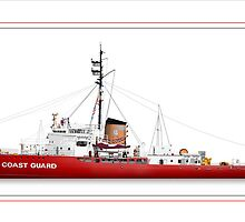 U.S. Coast Guard Icebreaker Mackinaw (Ret.) by Dominic R. Sondy