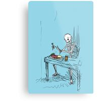 Confused Skeleton Metal Print