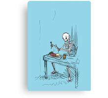 Confused Skeleton Canvas Print