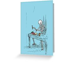 Confused Skeleton Greeting Card