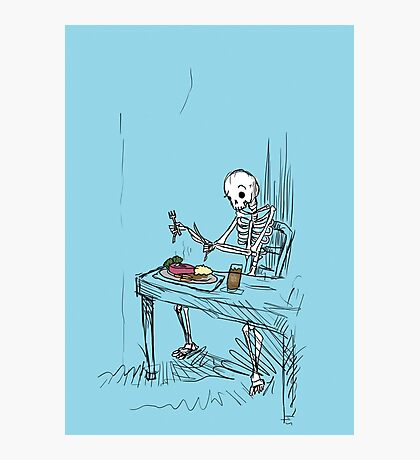 Confused Skeleton Photographic Print