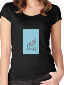 Confused Skeleton Women's Fitted Scoop T-Shirt